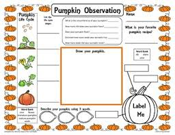 Life Cycle Of A Pumpkin Seed Worksheet by Pumpkin Observation Activity Sheet Freebie By Traci Bender The