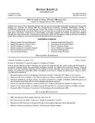 Sample Resume For Manager Account Marketing Example Relationship