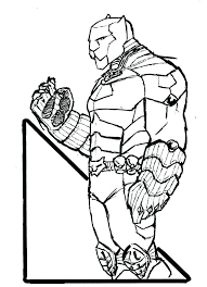 Black Panther Coloring Page Pages New Print Captain Marvel Colouring Printable Book