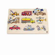 Hape Kitchen Set Uk by Hape E1400 Emergency Vehicles Peg Puzzle E1400 24 Months