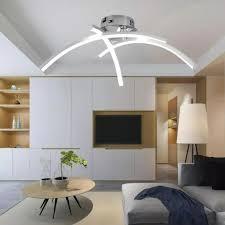 led deckenleuchte moderne kronleuchter deckenleuchte mit 3 bogenleuchten geeignet für wohnzimmer schlafzimmer und esszimmer warmweiß