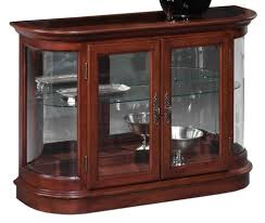 Curved Glass Curio Cabinet Antique by Demilune Curio Console W Mirror Back And Curved Glass Door Ends