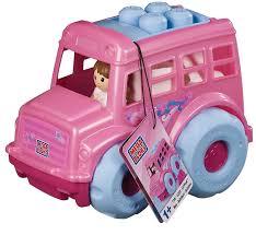 Amazon.com: Mega Bloks Lil' Pink Bus: Toys & Games