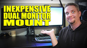 monitor mounting with the rosewill dual arm mount youtube