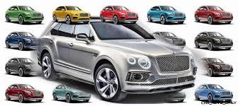 100 Bentley Truck 2014 2017 BENTAYGA Colors