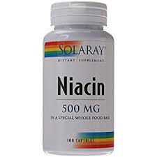 Amazon Solaray Niacin Capsules 500 mg 100 Count Health
