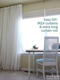 Spring Tension Curtain Rods Extra Long by How To Create An Extra Long Curtain Rod Rosyscription