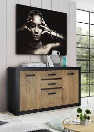 newroom sideboard konstantin kommode anthrazit kastanie holz dekor vintage industrial highboard anrichte wohnzimmer kaufen otto