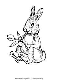 Rabbids Invasion Coloring Pages Of Easter Bunnies And Eggs Rabbit Tulip Colouring Page