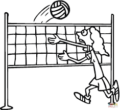 Click The Volleyball Coloring Pages