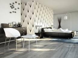 Modern Bedroom Design Black White Abstract