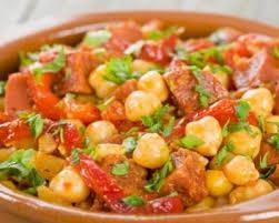 recettes de cuisines recette pois chiches au porc fumé et au chorizo