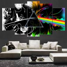 Abstract Beautiful Music Pink Floyd Logo Poster Wall Modular Picture Canvas Paintings For Bedroom Living Room
