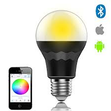 smaty bluetooth smart led light bulb smart phone controlled