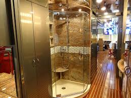 The Woody RV Interior Remodel Shower After OCRV