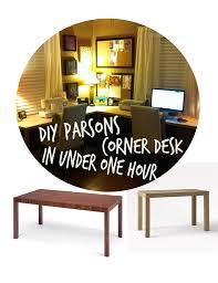 diy parsons corner desk in under one hour it u0027s super easy to make