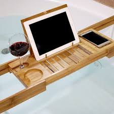 bathtubs wondrous bamboo bathtub caddy with reading rack 25