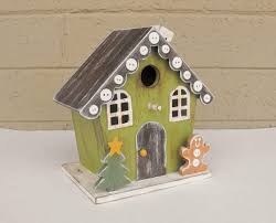Fancy Hand Painted Christmas Birdhouse In Gingerbread Style Decor Decorative