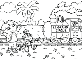 Printable Coloring Pages Dora Pictures Free The Explorer Games Episodes Nick Jr Images Full Size