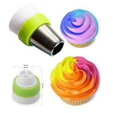 details zu icing piping bag nozzle converter 3 color 3 coupler cake decor tools
