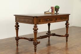 Furniture Cool Antique Walnut Library Table Desk Butcher ...