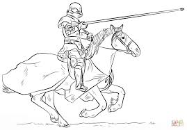 Click The Knight On Horse Coloring