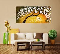 3D Flower Wall Painting Home Decoration 100 Handmade Oil Framed Living Room Decor Large