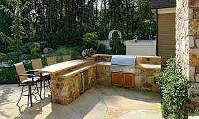 Stone Patio Bar Ideas Pics by Outdoor Stone Barbecue Kits Landscaping Gardening Ideas
