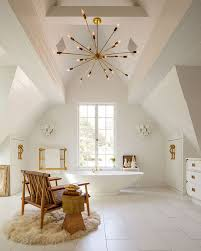 Chandelier Over Bathtub Soaking Tub by 15 Attics Turned Into Breathtaking Bathrooms
