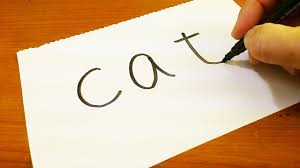 Very Easy How To Turn Words CAT Into A Cartoon