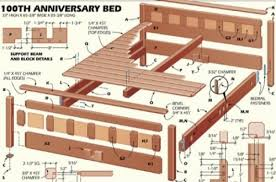 bed frame woodworking plans for full size bed frame popular