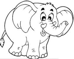 Free Animals Elephant Printable Coloring Pages For Preschool