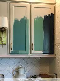 teal kitchen cabinet sneak peek plus a few cabinet painting tips