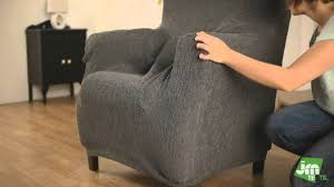 Grey Wingback Chair Slipcovers by Decorating Wingback Chair Covers Wing Chair Slipcovers Fitted