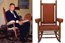 JFK's Rocking Chair Is Up For Auction Rocking Chair Cushion Set Theodore Alexander Ding Room Country Lifestyle Arm Best Baby Bouncer Chairs The Best Uk Bouncers And Deals Sales For Fniture Cushions Bhgcom Shop Seat Pads Quilted Memory Foam With Ties Birthing Chair Wikipedia Chairs Patio Home Depot Amazoncom Office Stain Resistant Gripper Kitchen Wayfair
