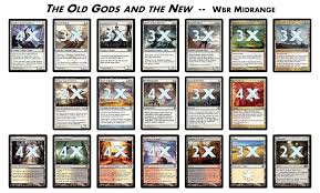 Mtg Enchantment Creature Deck by New Deck U201cthe Old Gods And The New U201d Wbr Midrange The Tabletop