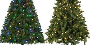 Half Christmas Tree Prelit Home Accents Lit Led Artificial W Color Changing Lights Only Shipped