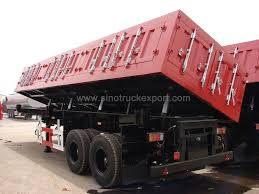 100 Side Dump Truck Hot Item Sinotruck HOWO 64 TriAxles 80 Tons Tipper Semi Trailer