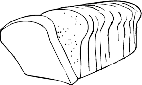 Bread Roll clipart black and white 8