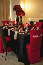 Red And Black Wedding Decorations Elegant Gold Tables Google Search