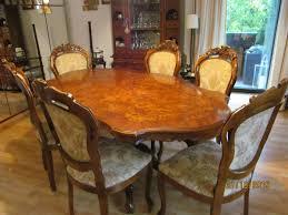 jugendstil tisch mit 6 stühlen