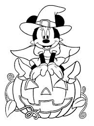 Disney Halloween Minnie Coloring Sheet For Kids Picture 18 550x738