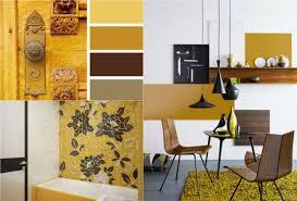 farbe ocker kombinieren braun walnuss holz wohnzimmer bad