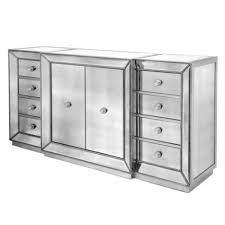Z Gallerie Glass Dresser by Horchow Shilo Two Door Mirrored Console Copycatchic