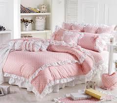 line Shop Cute Korean Pink Polka Dot forter Sets Romantic