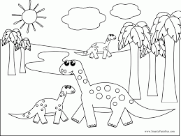 Coloring Pages Dinosaur For Kids Designs Canvas