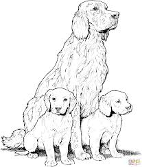 Coloring Page Doggy Pages Printable Dog Doggie And