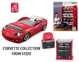 corvette toddler to twin bed with lights new at step2 holyjeans