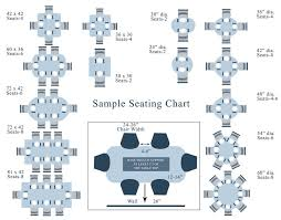 Dining Room Tables Sizes by Visual Seating Chart Number Of Chairs Per Table Based On Table