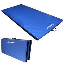 gymnastics floor mats uk mirafit large 8ft folding exercise gymnastics mat blue